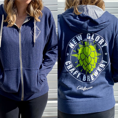 Navy Ubah Hop Zip-Up