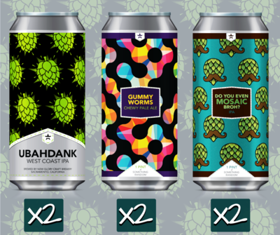 Hops For Days Mixed Case (6) 4-Packs *Shipping for CA Only