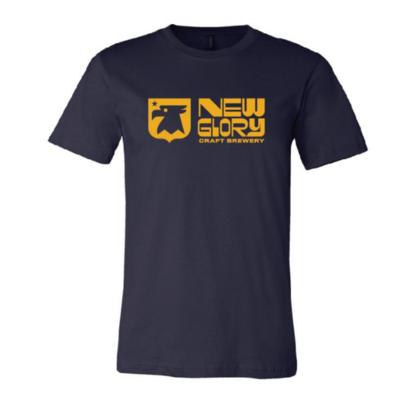 Blue/Gold New Glory Logo T-Shirt