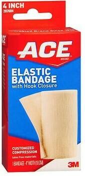 "Ace Elastic Bandage with Hook Closures  / 4""  / 1.7 YDS"