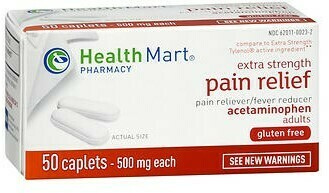 Acetaminophen 500mg Pain Relief Caplets by Health Mart / 50ct
