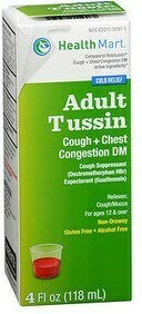 Adult Tussin DM (Cough and Congestion) 4 Fl oz.