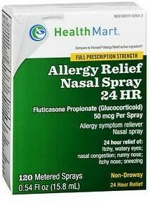 Allergy Relief Nasal Spray 24 HR 120 Spray
