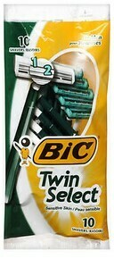 Bic Twin Select Razor for Men / 10ct