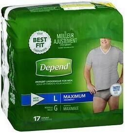 Depend Fit-Flex Underwear (Men's)  LG  17ct