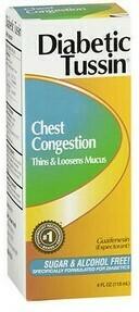 Diabetic Tussin- Chest Congestion /  4 Fl oz