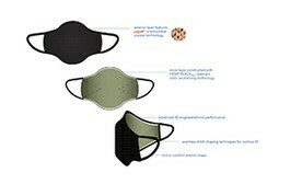 3D KNIT FACE MASK REUSABLE BLACK