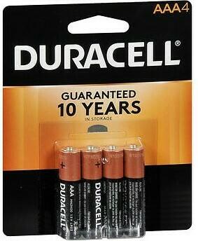Duracell AAA Batteries / 4pk
