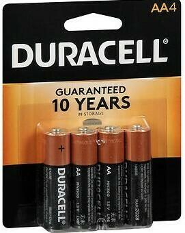 Duracell AA Batteries / 4pk