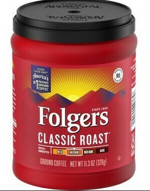 Folgers Classic Roast Ground Coffee / 11.3 OZ / Medium Roast
