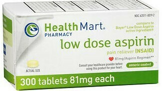 Low Dose Asprirn 81mg Tablet Enteric Coated (120ct)