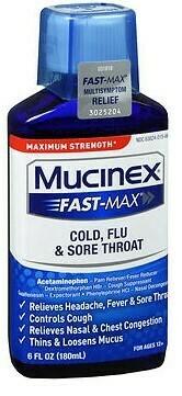 Mucinex Fast Max -Cold Flu-Max St. and Sore Throat. 6FL OZ