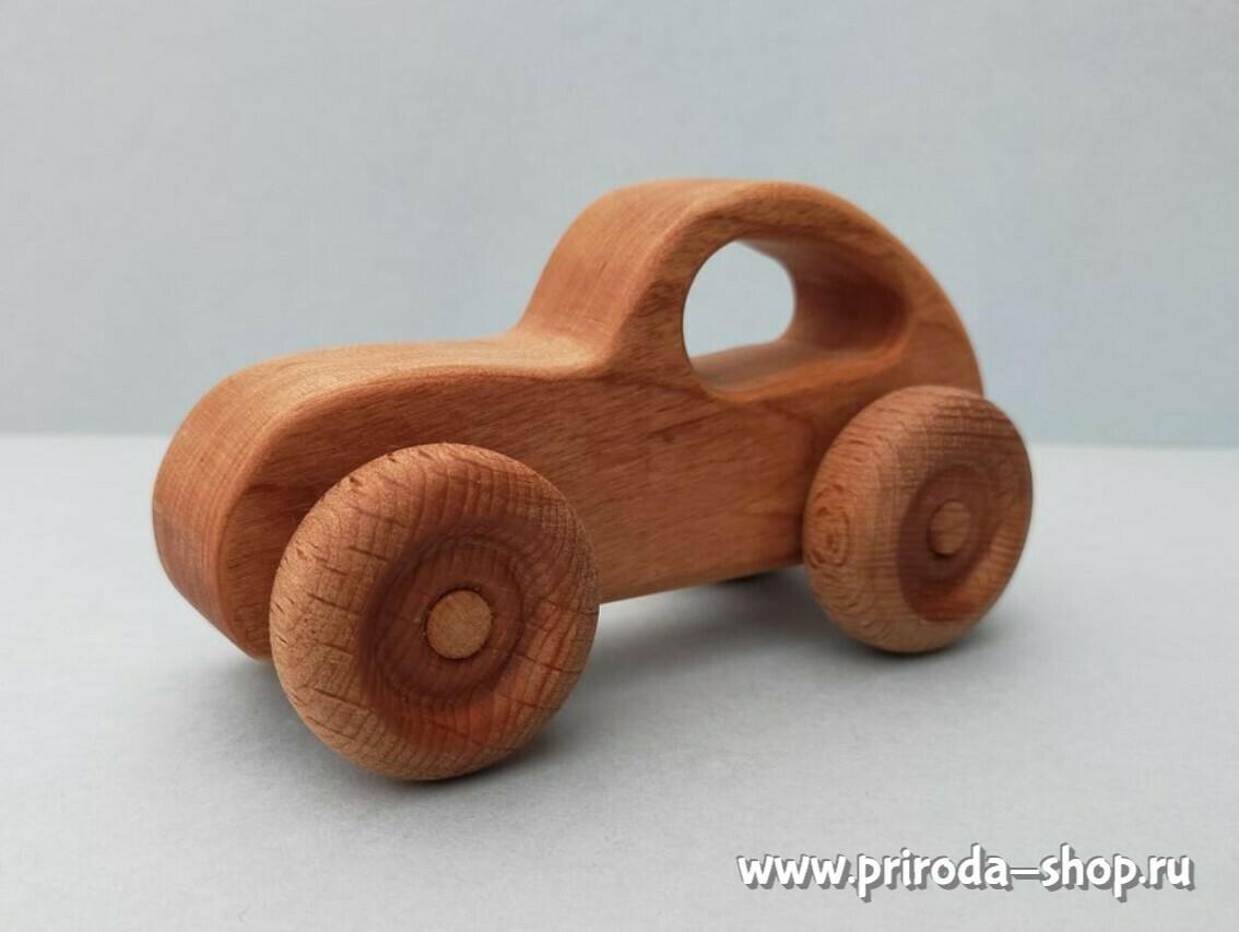 """Деревянная машинка """"Генри"""", мастерская PRIRODA shop"""