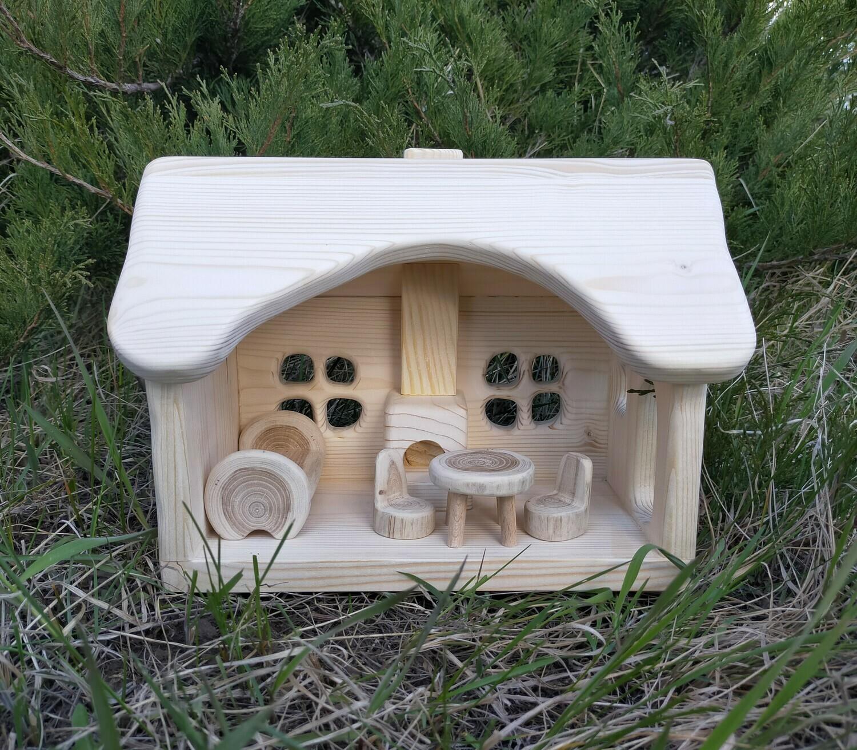 Кукольный домик с печкой, мастерская PRIRODA shop