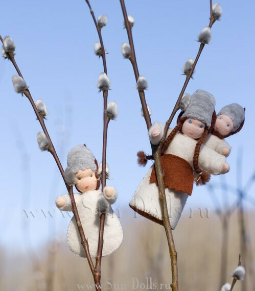 Набор для изготовления фетровой игрушки «Верба с малышами», мастерская Sun-dolls