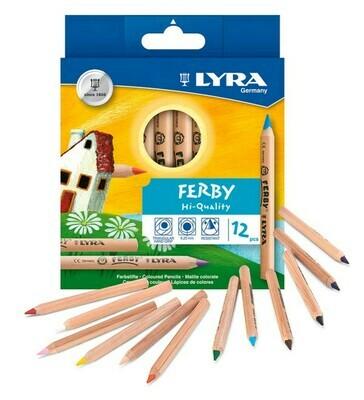 Карандаши цветные Lyra FERBY(Лира Ферби), набор 12 цветов