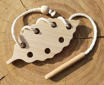 Шнуровка «Буковый листочек», мастерская PRIRODA shop