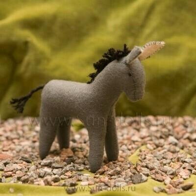 Набор для изготовления фетровой игрушки «Ослик Даня» 13 см, мастерская Sun-dolls