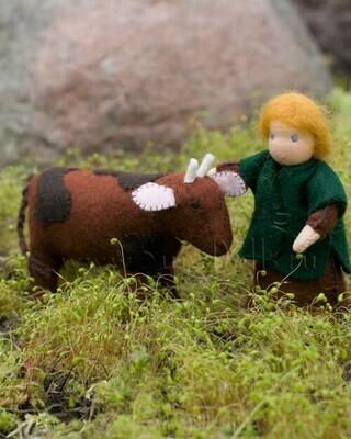 Набор для изготовления фетровых игрушек «Пастух и бычок», мастерская Sun-dolls