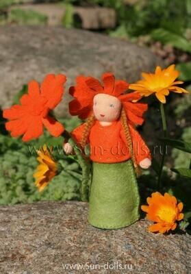 Набор для изготовления фетровой куколки «Календула», мастерская Sun-dolls