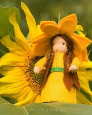 Набор для изготовления фетровой куколки «Детка Подсолнуха», мастерская Sun-dolls