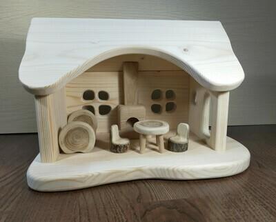 Кукольный домик с печкой 2, мастерская PRIRODA shop