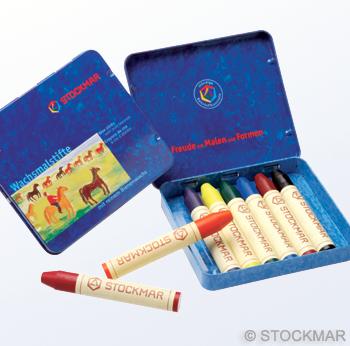 """Мелки восковые пальчиковые Stoсkmar (Штокмар), ассорти 8 цветов """"Стандарт"""""""