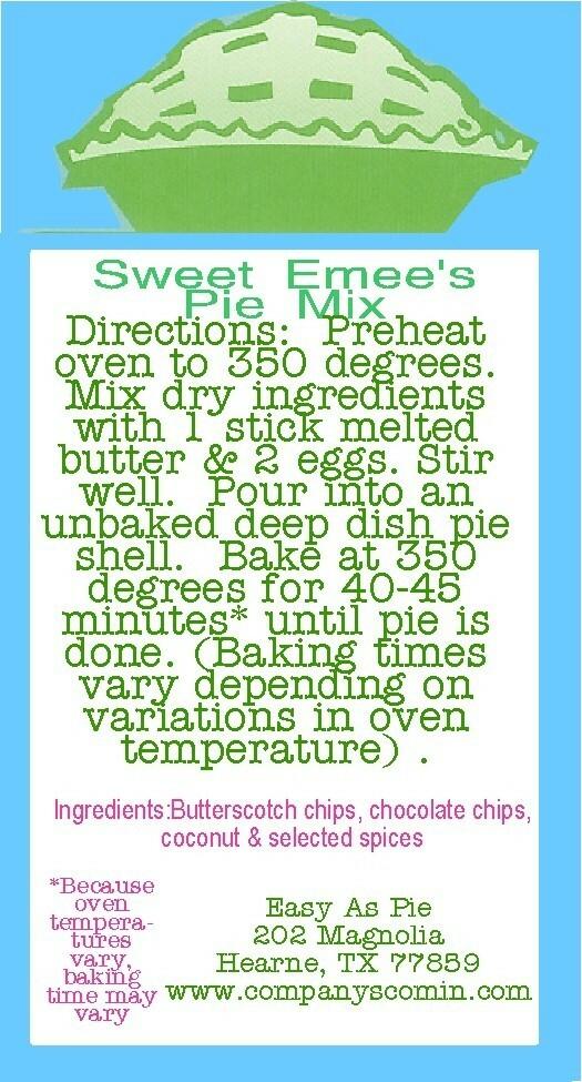 Sweet Emee's Pie Mix