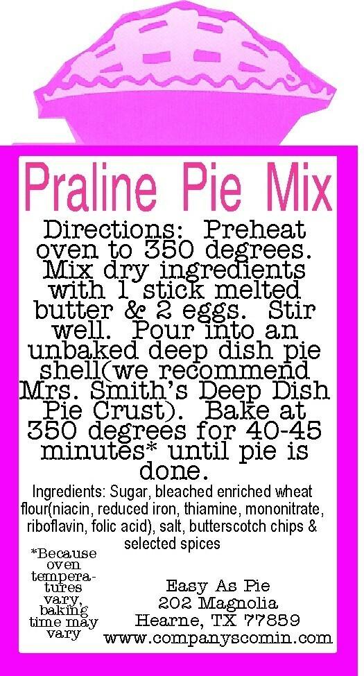 Praline Pie Mix