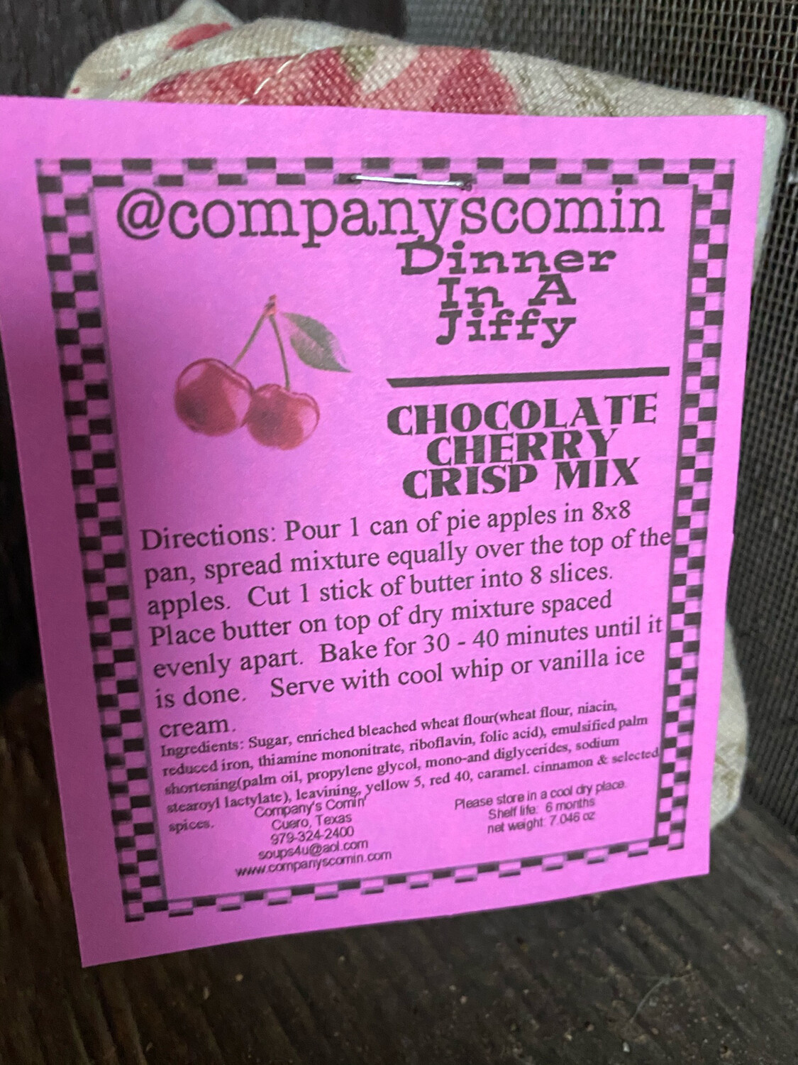 Chocolate Cherry Crisp Mix