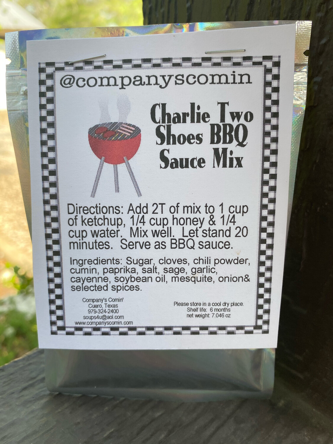 Charlie Two Shoes BBQ Sauce Mix