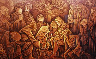 Jesus Christ Washing Disciples' Feet (Free Shipping)