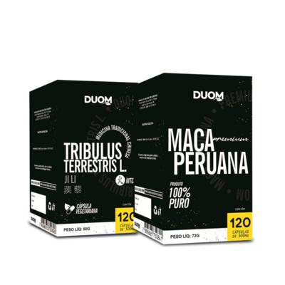 Kit Tribulus + Maca Peruana 120 cáps