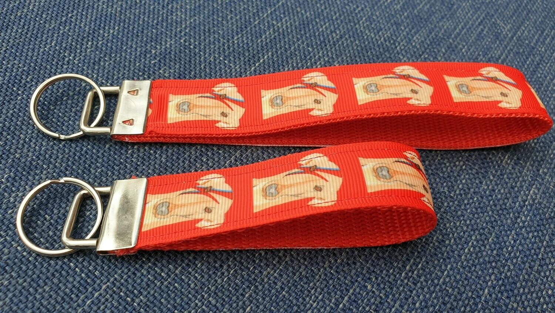 Key Fob or Bag Clip  Ziggy Stardog Design by Jane Wren