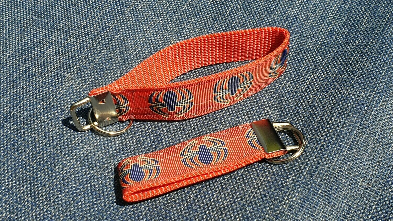 Key Fob or Bag Clip Spiderman Design