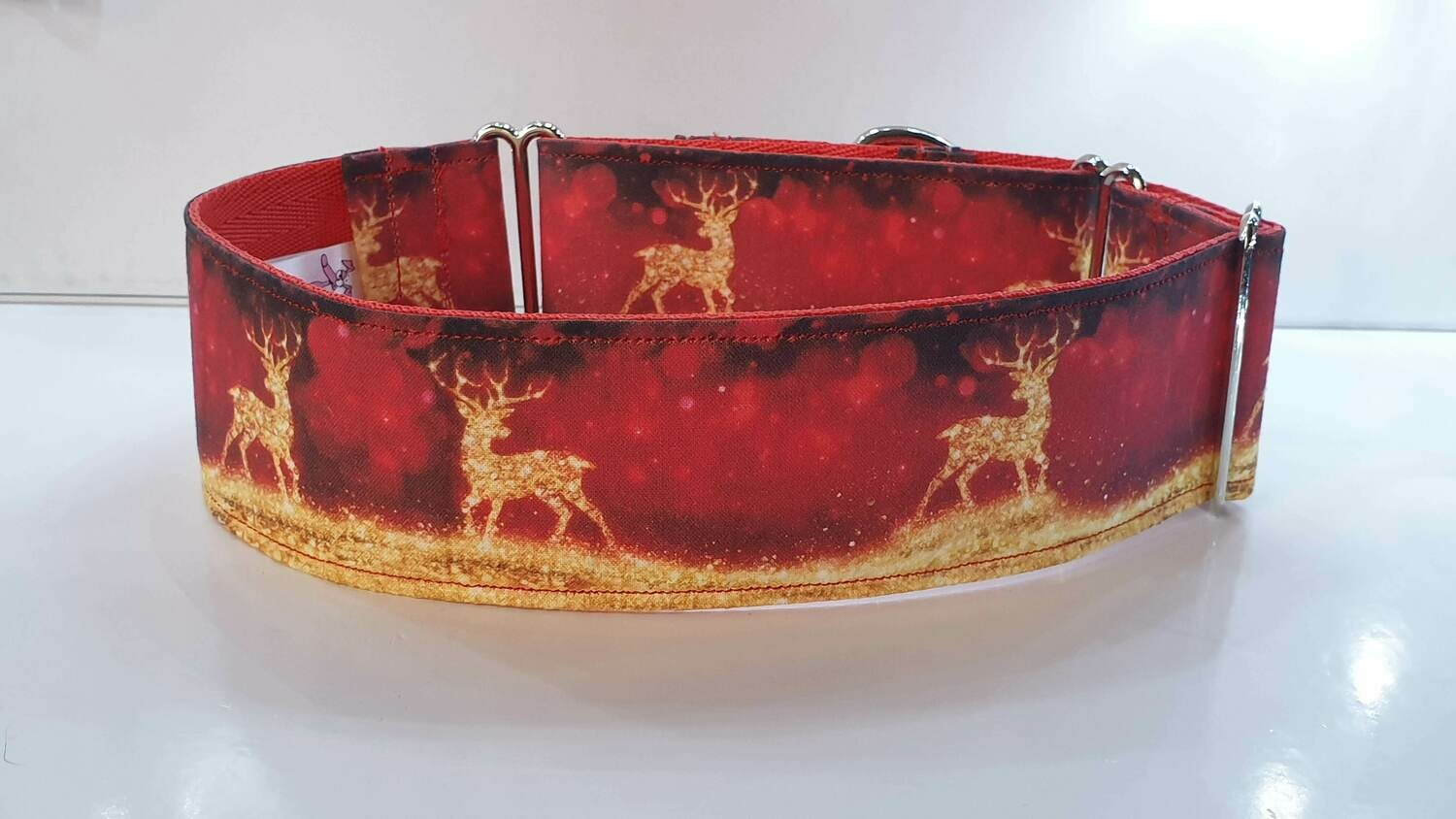 Collar 'Golden Stag' by Little Pink Dog