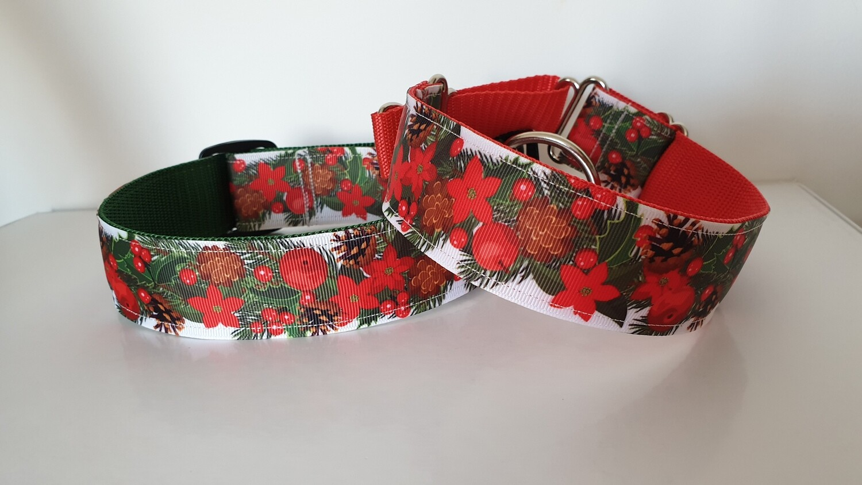 Christmas collar 'Poinsettia design'