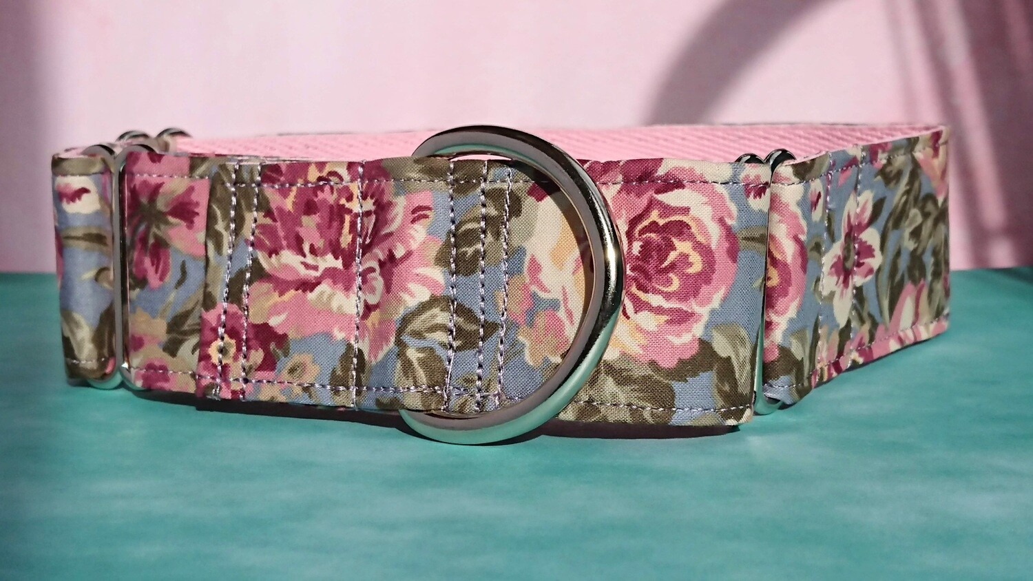Vintage Laura Ashley Fabric Limited Edition Martingale Collar, House or Clip.  'May'