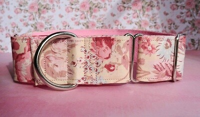 Vintage Laura Ashley Fabric Limited Edition Martingale Collar, House or Clip 'Rosie'