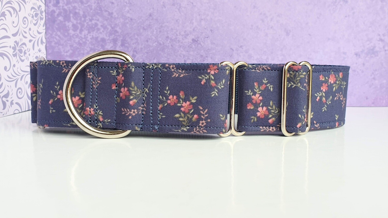 Vintage Laura Ashley Fabric Limited Edition Martingale Collar, House or Clip 'Pink Spray