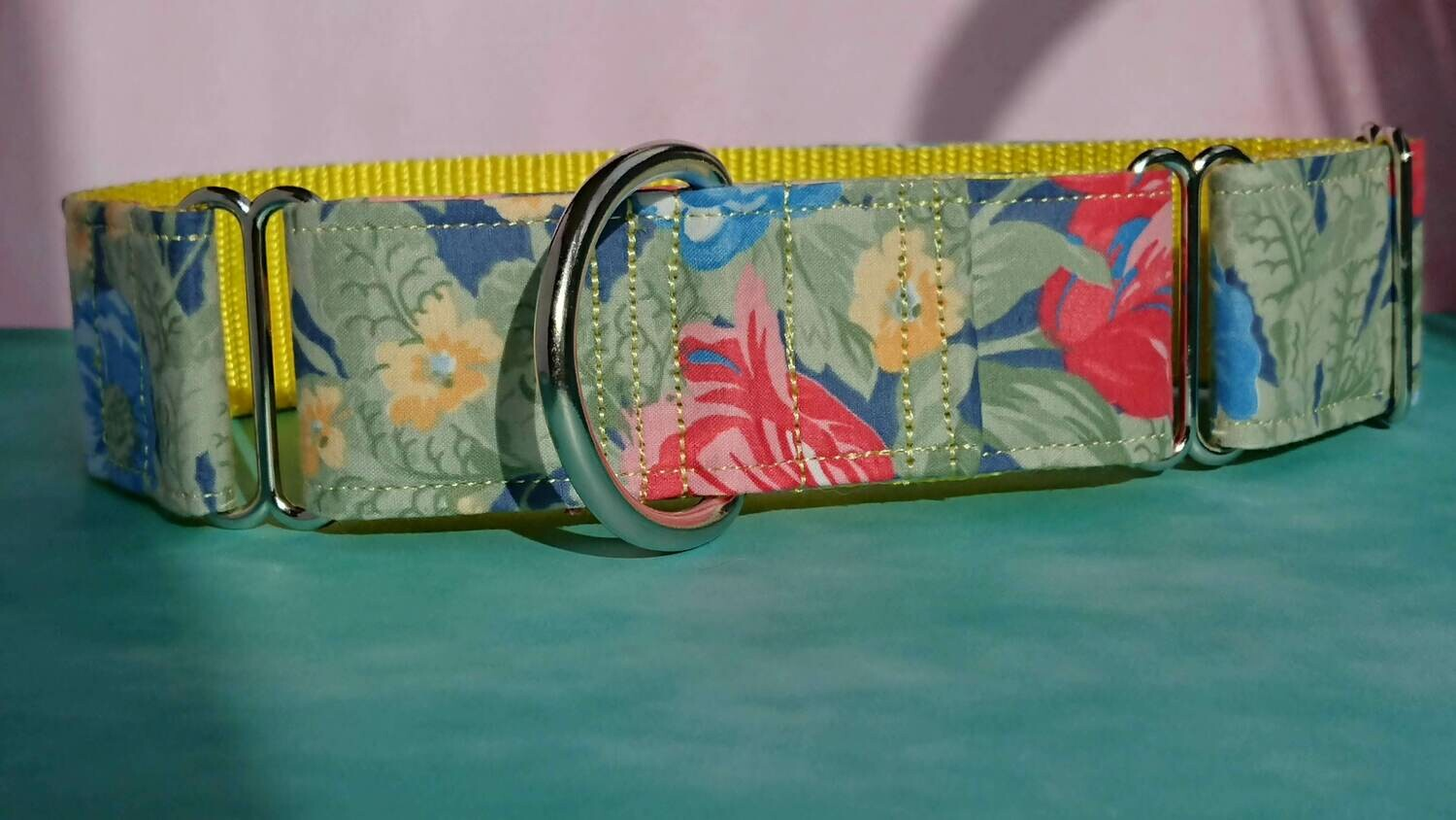 Vintage Laura Ashley Fabric Limited Edition Martingale Collar, House or Clip 'Bouquet'
