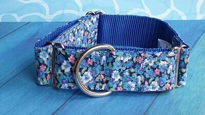 Vintage Laura Ashley Fabric Limited Edition Martingale Collar, House or Clip 'Periwinkle'