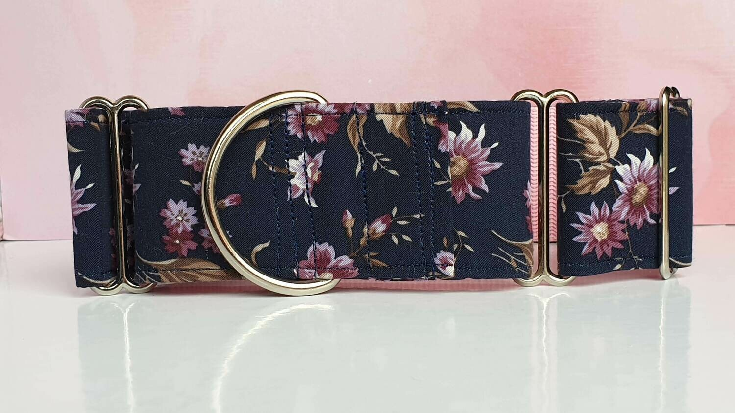 Vintage Laura Ashley Fabric Limited Edition Martingale Collar, House or Clip 'Daisy'