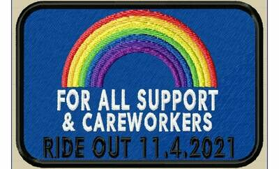 The NHS 'All Support & Careworkers' Ride Out 11/04/2021 Souvenir Patch Fundraising
