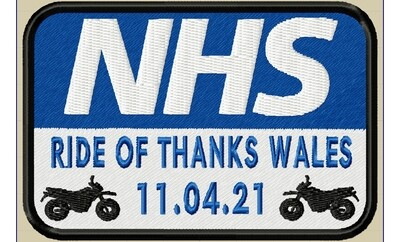 NHS Ride of Thanks patch pack