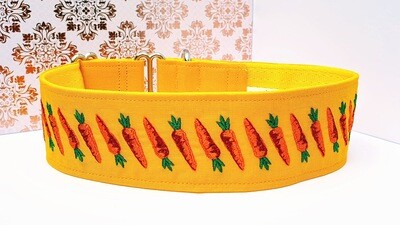 Embroidered Collar 'Pulling Carrots' Martingale, House or Clip