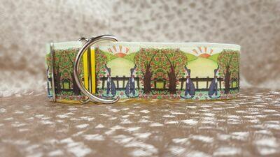 Martingale Collar 'Wonderful World' by Jane Wren