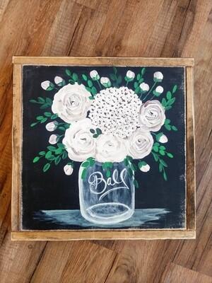 Framed Jar Bouquet