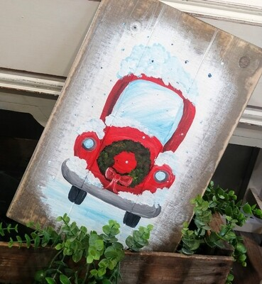 Vintage Wreath Truck