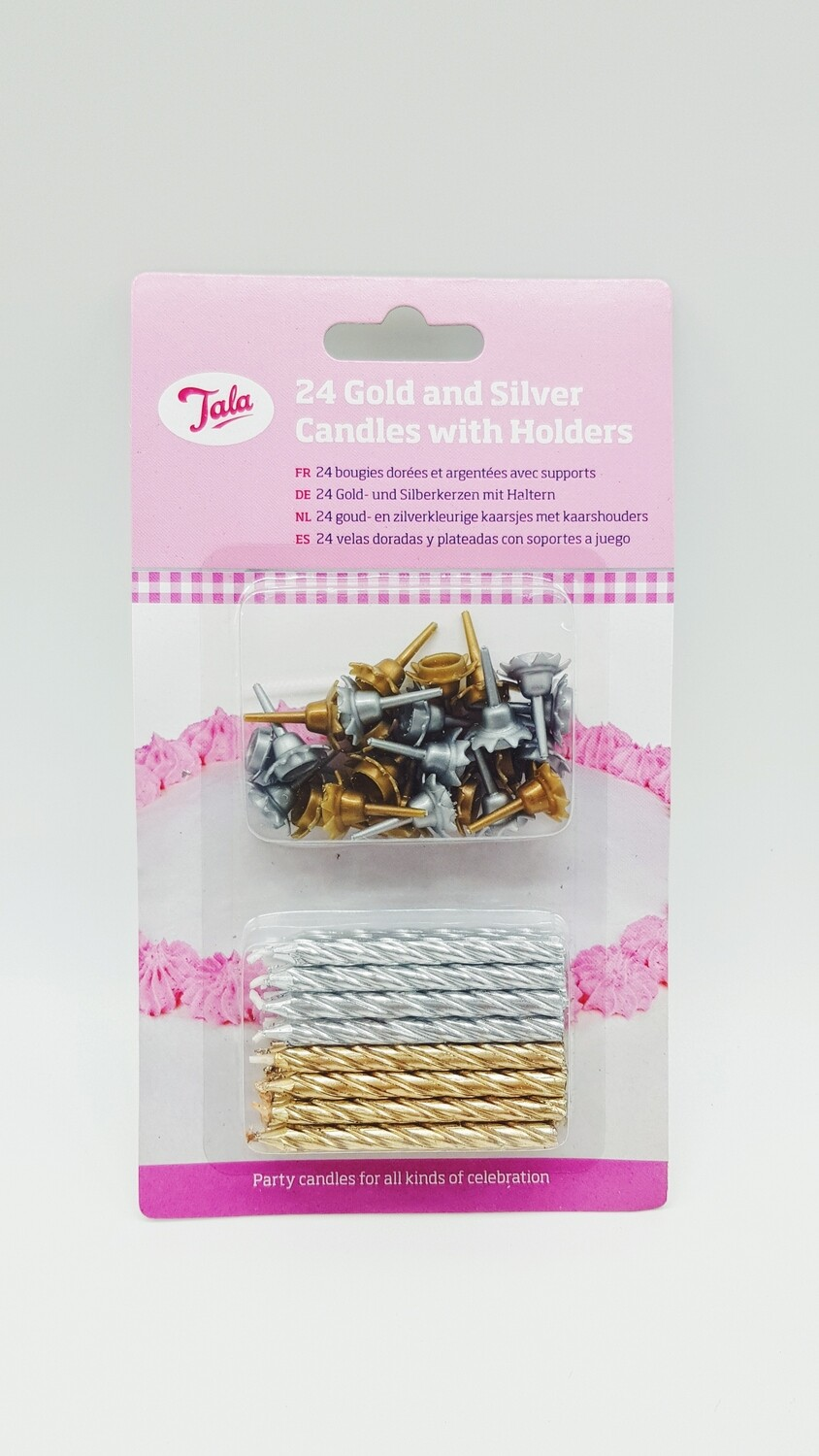 24 Pack Gold/Silver Candles